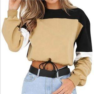 Tops - Reposh crop color block sweatshirt